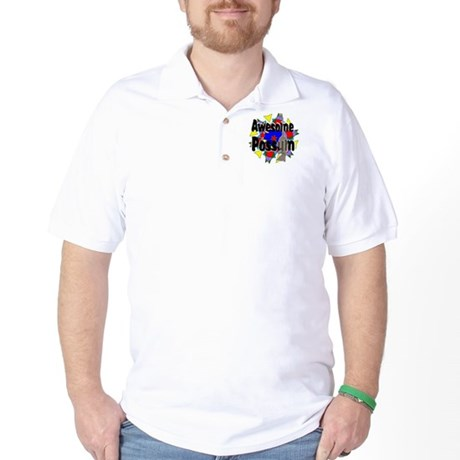 Awesome Possum Kaleidoscope Golf Shirt