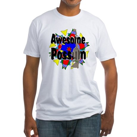 Awesome Possum Kaleidoscope Fitted T-Shirt