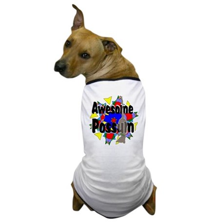 Awesome Possum Kaleidoscope Dog T-Shirt