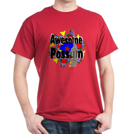 Awesome Possum Kaleidoscope Dark T-Shirt