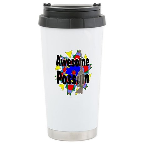 Awesome Possum Kaleidoscope Ceramic Travel Mug