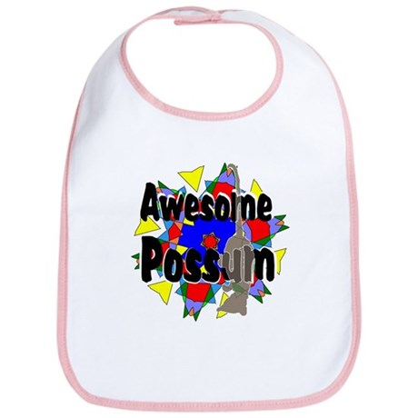 Awesome Possum Kaleidoscope Bib