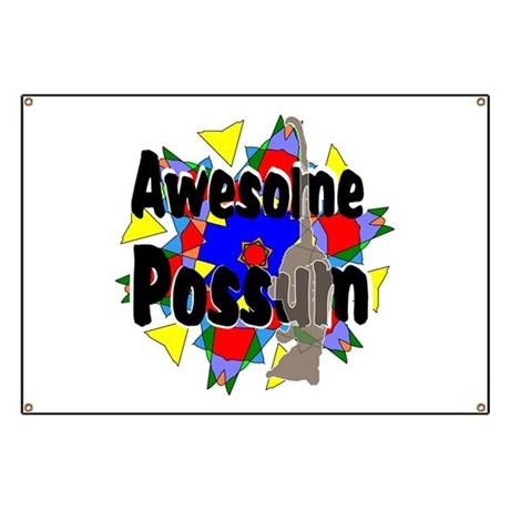 Awesome Possum Kaleidoscope Banner