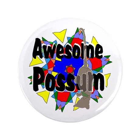 "Awesome Possum Kaleidoscope 3.5"" Button"