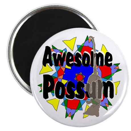 "Awesome Possum Kaleidoscope 2.25"" Magnet (100 pack"