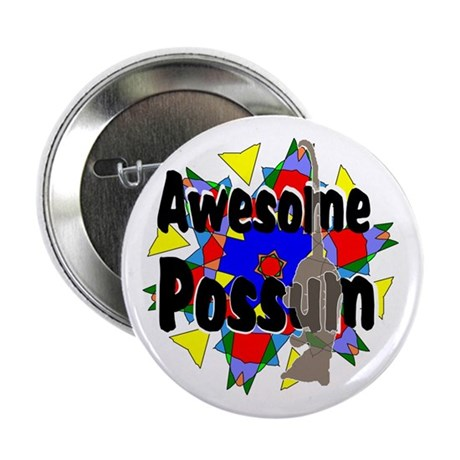 "Awesome Possum Kaleidoscope 2.25"" Button (10 pack)"