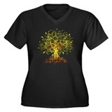 abstract tree Women's Plus Size V-Neck Dark T-Shir