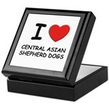 I love CENTRAL ASIAN SHEPHERD DOGS Keepsake Box