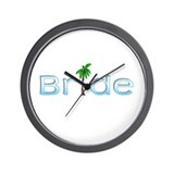 Bride (Palm Lt Bl) Wall Clock