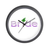 Bride (Palm PPL) Wall Clock