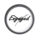Engaged Wall Clock