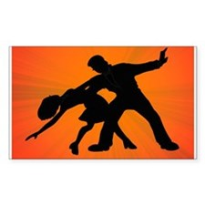 Dazzling Dance Silhouettes Decal