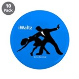 "iWaltz Ballroom Dance 3.5"" Button (10 pack)"