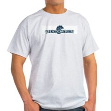 Shadowrun_BLUE Ash Grey T-Shirt