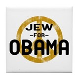 Jew for Obama Tile Coaster