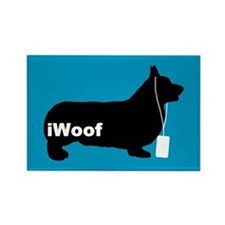 iWoof Pembroke Corgi Rectangle Magnet