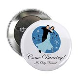 "Cartoon Ballroom Dancers 2.25"" Button"