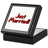 Just Married (Red) Keepsake Box