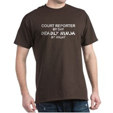 Court Reporter Deadly Ninja by Night T-Shirt