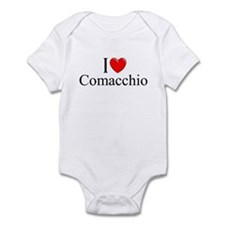 """I Love (Heart) Comacchio"" Infant Bodysuit"