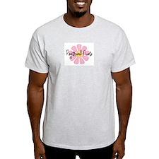 Registered Nurse BIG PINK FLOWER yellow Cen T-Shir