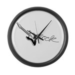 Guitar Rock Large Wall Clock