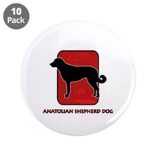 "Anatolian Shepherd Dog 3.5"" Button (10 pack)"