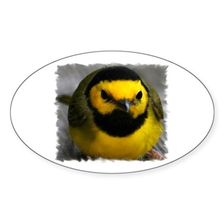 Yellow Bird Oval Sticker