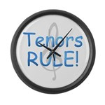 Tenors Rule! Large Wall Clock