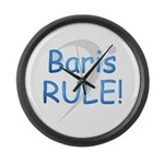 Baris RULE! Large Wall Clock