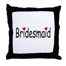 Bridesmaid (RD HRT) Throw Pillow