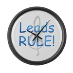 Leads Rule! Large Wall Clock