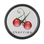 cherries Large Wall Clock