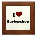 i heart barbershop Framed Tile