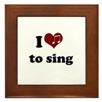 i heart to sing Framed Tile