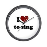 i heart to sing Wall Clock