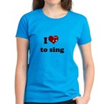 i heart to sing Women's Dark T-Shirt