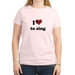 i heart to sing Women's Light T-Shirt