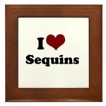 i heart sequins Framed Tile