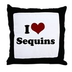 i heart sequins Throw Pillow