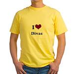 i heart divas Yellow T-Shirt