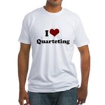 i heart quarteting Fitted T-Shirt