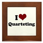 i heart quarteting Framed Tile
