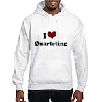 i heart quarteting Hooded Sweatshirt