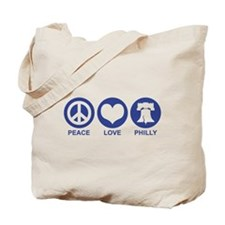 Peace Love Phiily Tote Bag