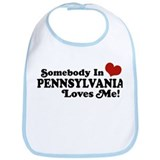 Somebody in Pennsylvania Loves Me Bib