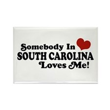 Somebody in South Carolina Loves Me Rectangle Magn