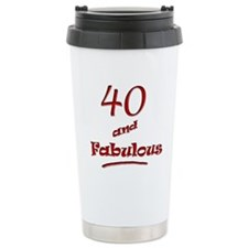 40 and Fabulous Ceramic Travel Mug
