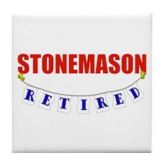 Retired Stonemason Tile Coaster