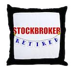 Retired Stockbroker Throw Pillow
